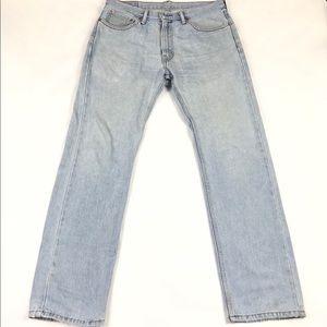 Levi's 505 Mom Jeans Hi Rise Straight Leg Light